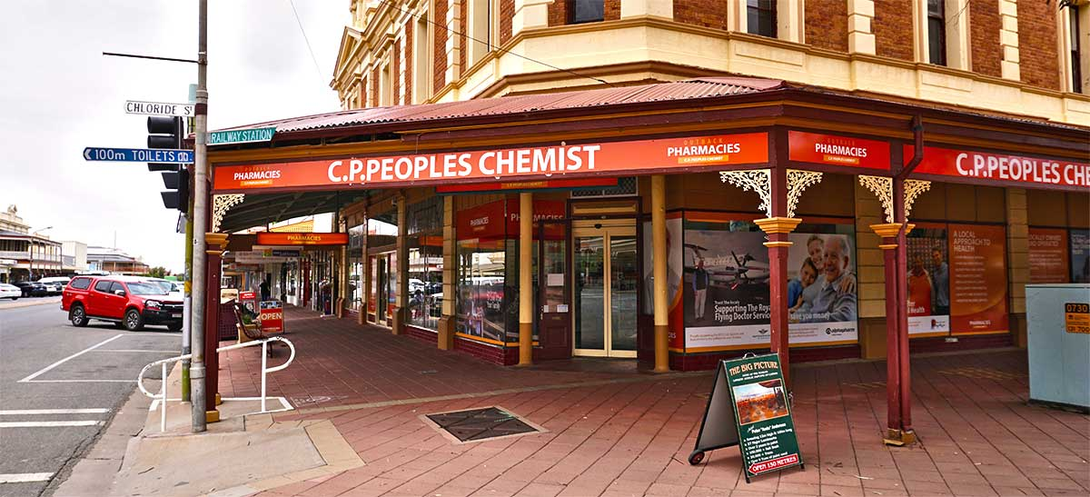 C.P. Peoples Chemist Broken Hill Store Front